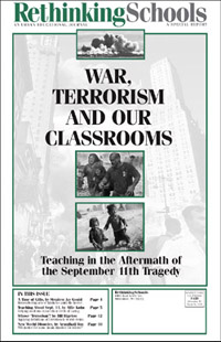 cover of War, Terrorism, and Our Classrooms