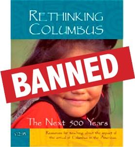 Rethinking Columbus banned