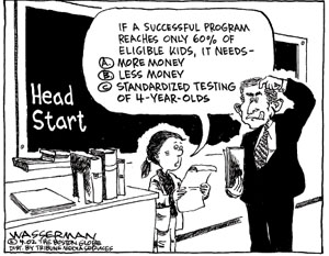 standardized testing vs education through freedom First an overview is given about the actual national and international situation concerning standardized testing testing limits the freedom of teachers to adapt to the complex, situation specific circumstances in order to obtain a maximum of the creative learning process for students who are conceived as specialists instead.