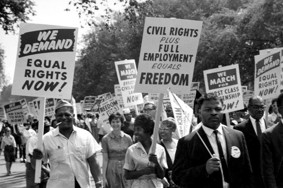 marchers at march on washington