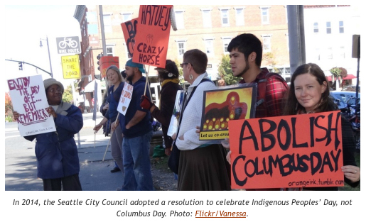 Columbus Day Protests