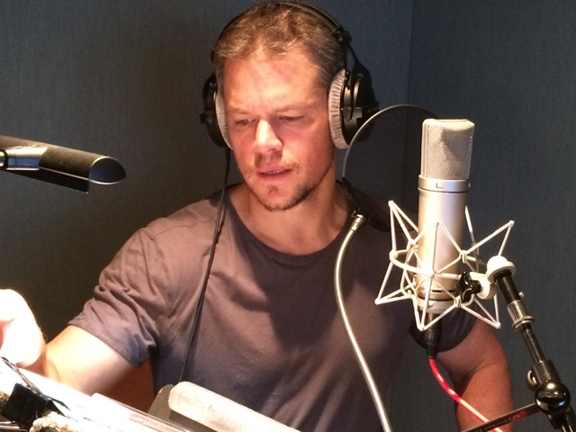 Matt-Damon-recording-BACKPACK-narration-in-LA-studio-August-2015-